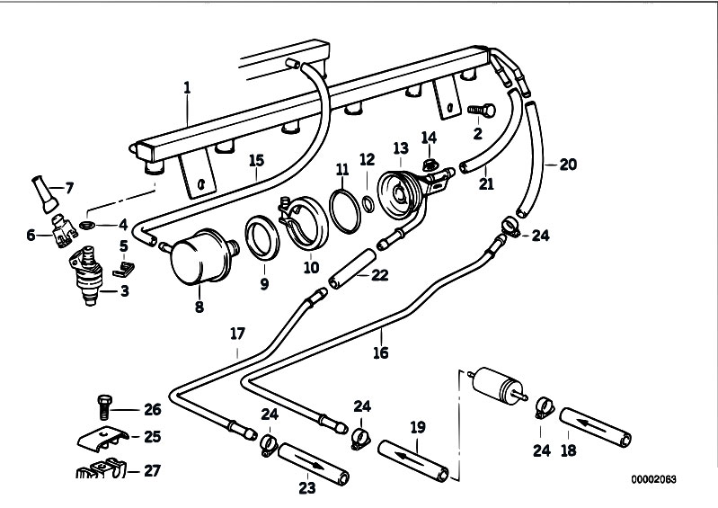 Original Parts for E36 M3 S50 Coupe / Fuel Preparation