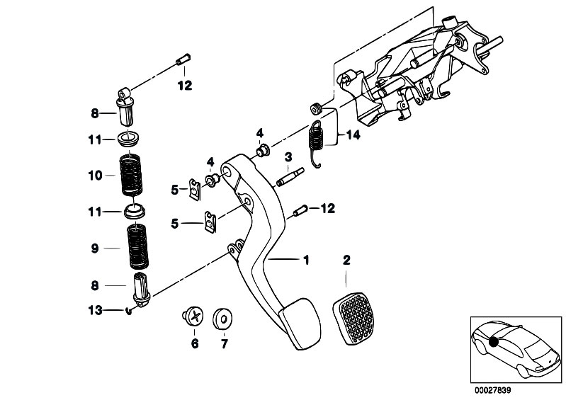 Original Parts for E38 735i M62 Sedan / Pedals/ Pedals