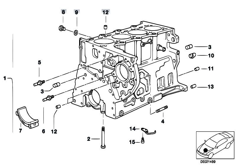 Original Parts for E46 320d M47 Sedan / Engine/ Engine
