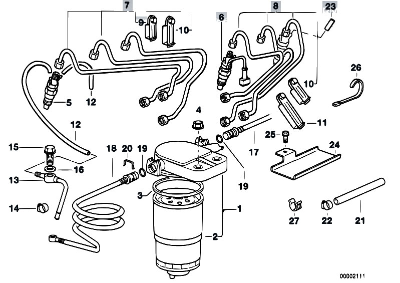 Original Parts for E39 525tds M51 Touring / Fuel