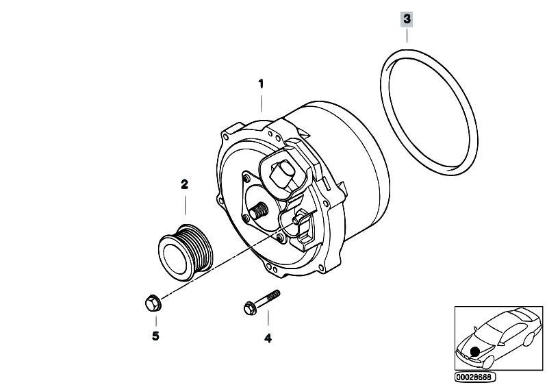 Original Parts for E65 735i N62 Sedan / Engine Electrical