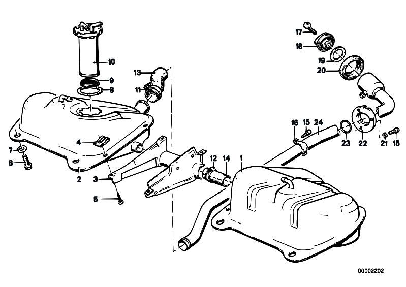 Original Parts for E21 318i M10 Sedan / Fuel Supply/ Fuel