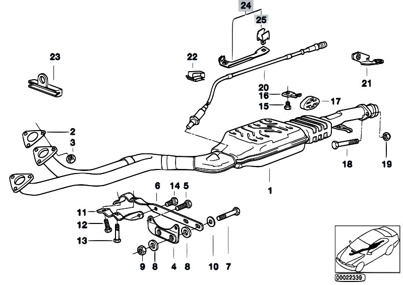 Original Parts for E36 323i M52 Touring / Exhaust System