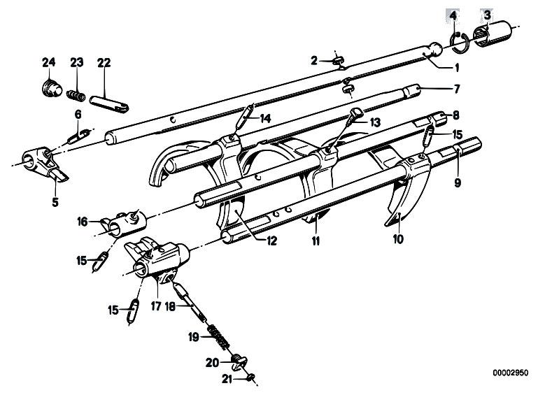 Original Parts for E21 320 M10 Sedan / Manual Transmission