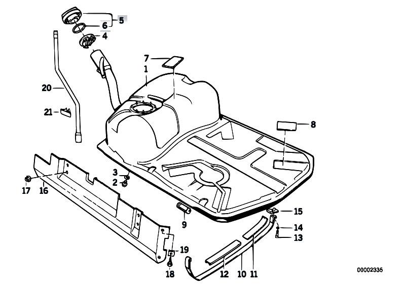 Original Parts for E34 518i M40 Touring / Fuel Supply