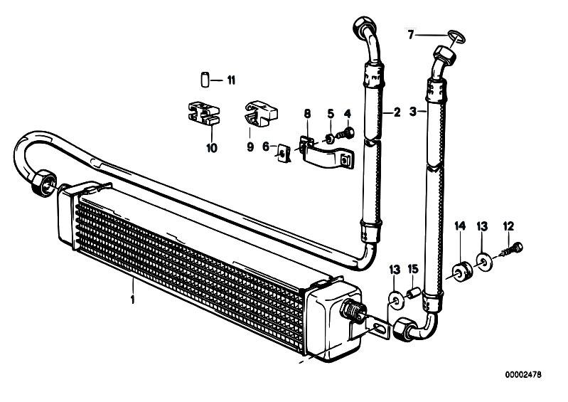 Original Parts for E30 M3 S14 Cabrio / Radiator/ Engine