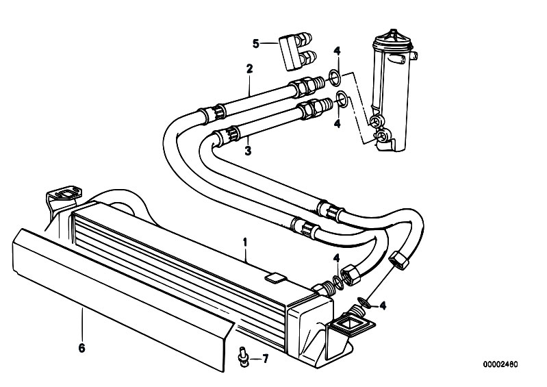 Original Parts for E32 750iLS M70 Sedan / Radiator/ Engine