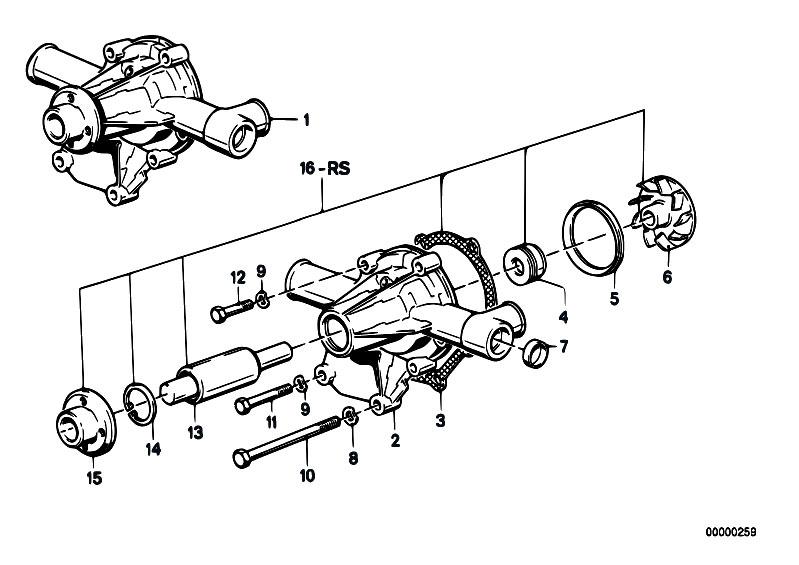 Original Parts for E21 318i M10 Sedan / Engine/ Cooling