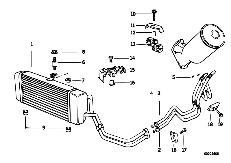 Original Parts for E34 525tds M51 Touring / Radiator