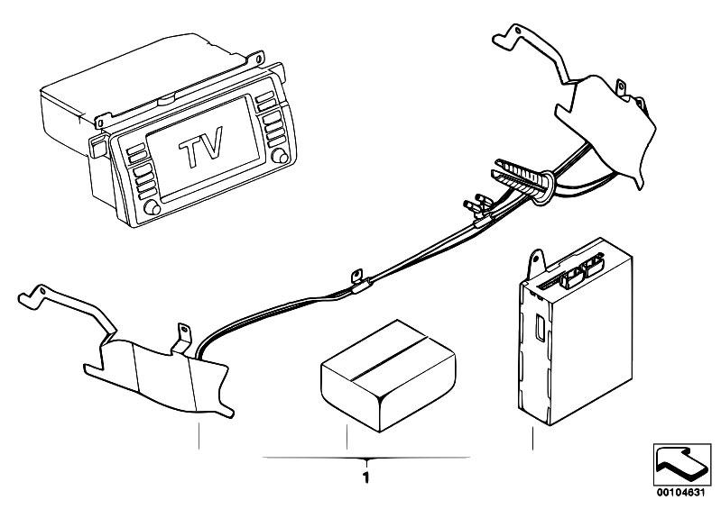 Original Parts for E39 530d M57 Sedan / Audio Navigation