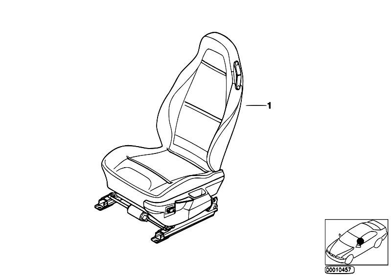 Original Parts for Z3 Z3 2.8 M52 Roadster / Seats/ Bmw