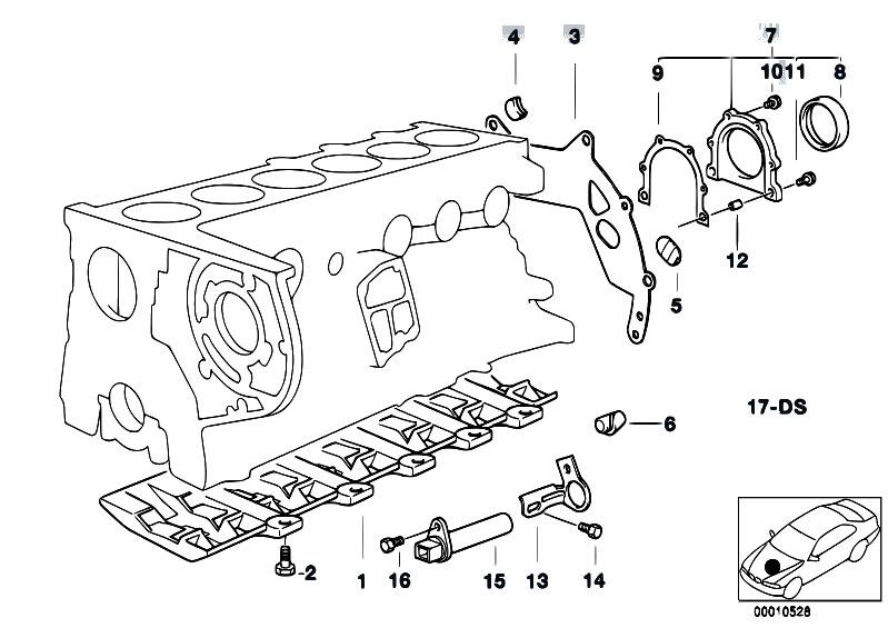 Original Parts for E39 525tds M51 Touring / Engine/ Engine