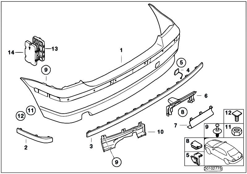 Original Parts for E46 316ti N42 Compact / Vehicle Trim