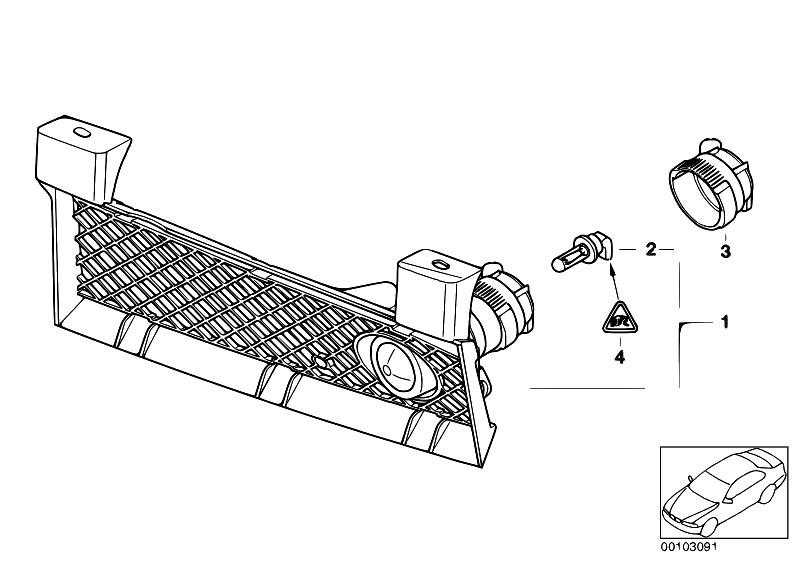 Original Parts for E46 316ti N42 Compact / Lighting/ Fog