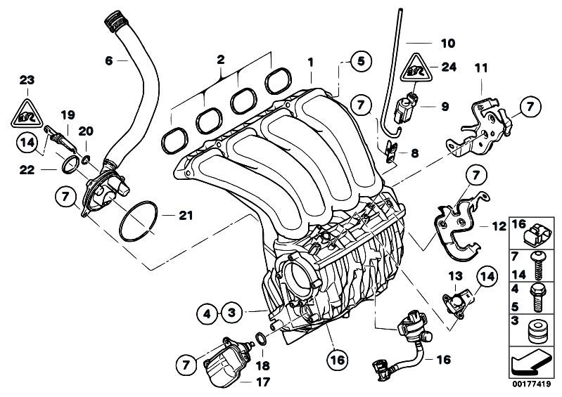 Original Parts for E91 318i N43 Touring / Engine/ Intake