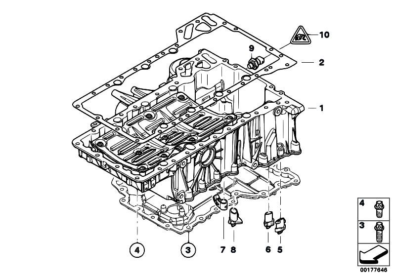 Original Parts for E71 X6 50iX N63 SAC / Engine/ Oil Pan
