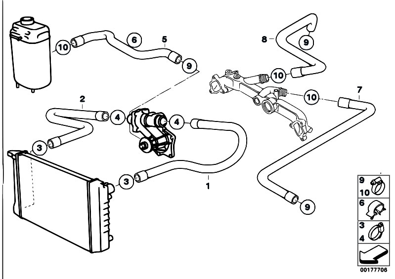 Original Parts for E38 740iL M62 Sedan / Engine/ Cooling