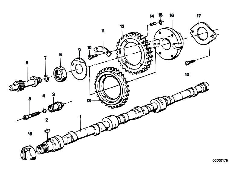 Original Parts for E12 528i M30 Sedan / Engine/ Timing And