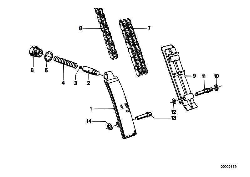 Original Parts for E12 535i M30 Sedan / Engine/ Timing And