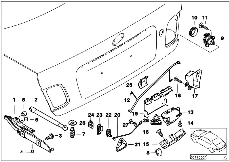 Original Parts for E46 320Cd M47N Coupe / Bodywork/ Trunk