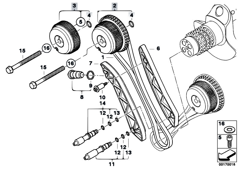 Original Parts for E92 M3 S65 Coupe / Engine/ Timing Gear