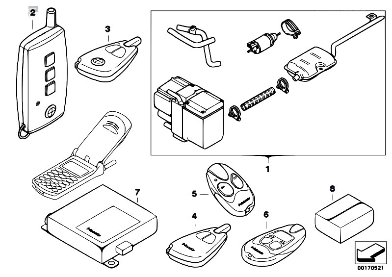 Original Parts for E90 330xd M57N2 Sedan / Heater And Air
