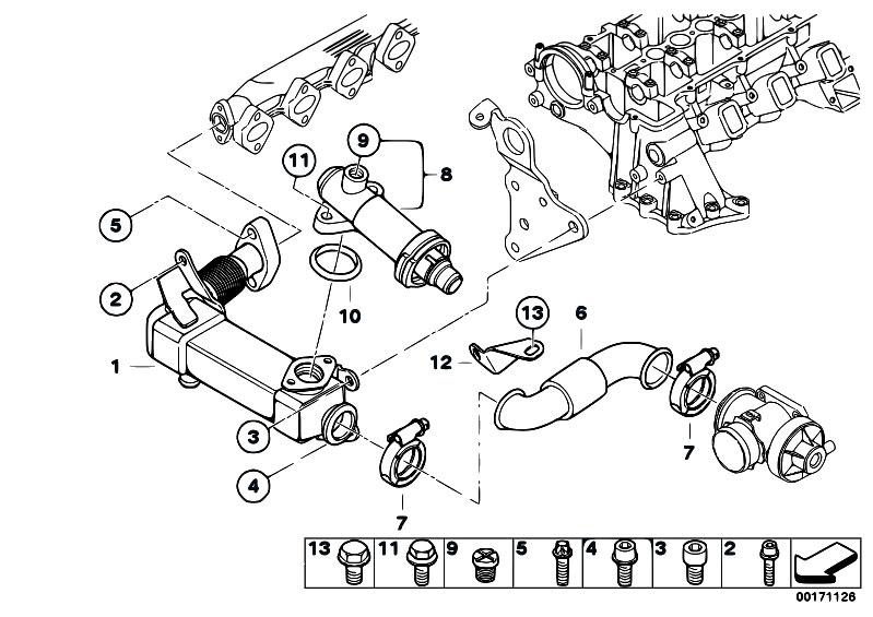 Original Parts for E90 320d M47N2 Sedan / Engine/ Emission