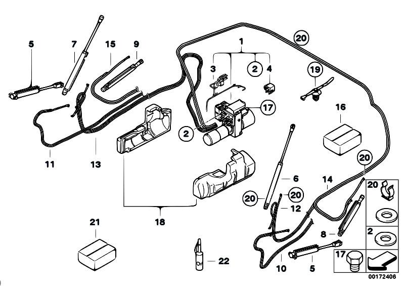 Original Parts for E88 120i N43 Cabrio / Sliding Roof
