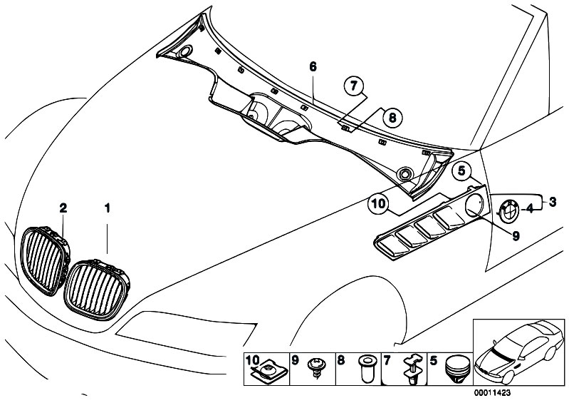 Original Parts for Z3 Z3 2.0 M52 Roadster / Vehicle Trim