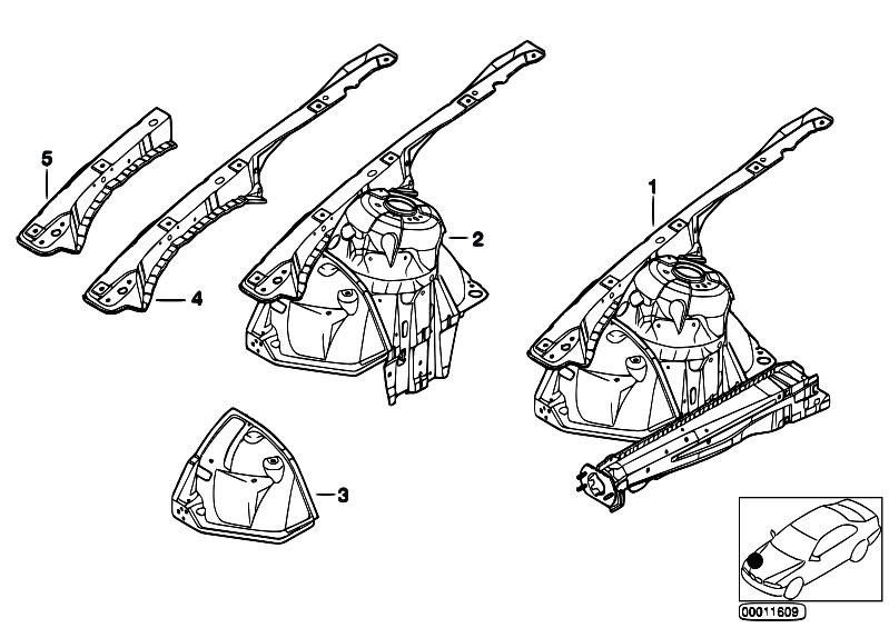 Original Parts for E46 318i N42 Sedan / Bodywork/ Front