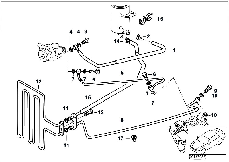 Original Parts for E39 540i M62 Touring / Steering/ Hydro