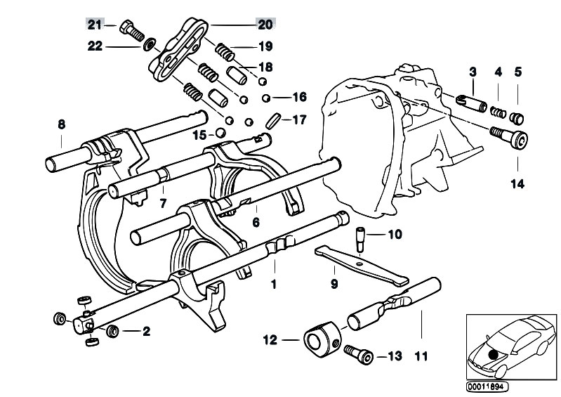 Original Parts for E36 318ti M42 Compact / Manual