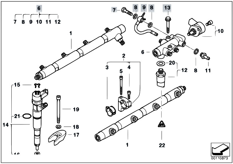 Original Parts for E38 740d M67 Sedan / Fuel Preparation