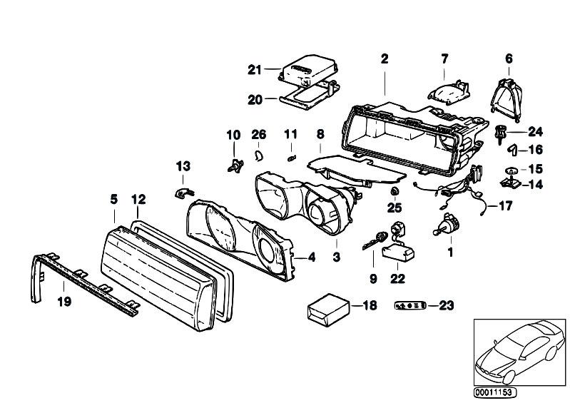 Original Parts for E38 735iL M62 Sedan / Lighting/ Indiv