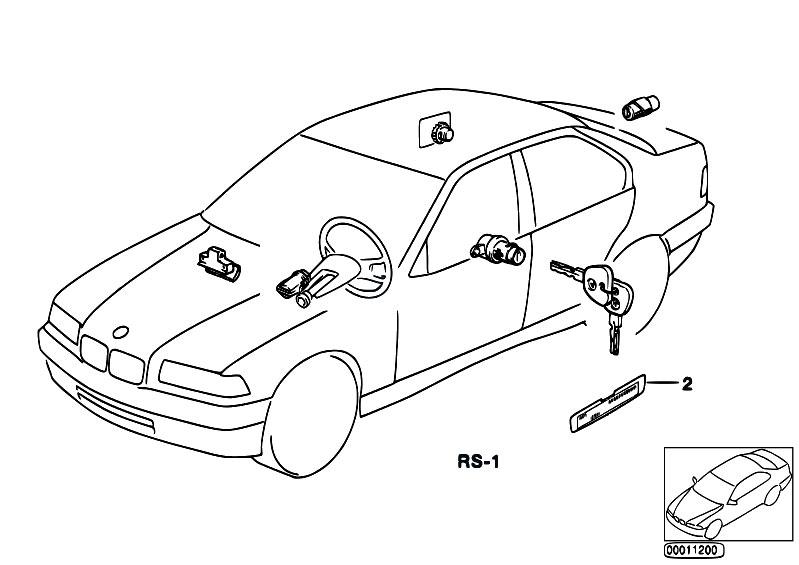 Original Parts for E30 320i M20 Cabrio / Bodywork/ One Key
