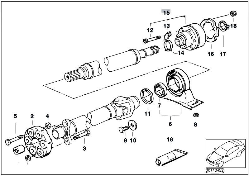 Original Parts for E36 M3 S50 Sedan / Drive Shaft/ Drive
