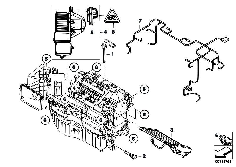 Original Parts for E71 X6 35iX N54 SAC / Heater And Air