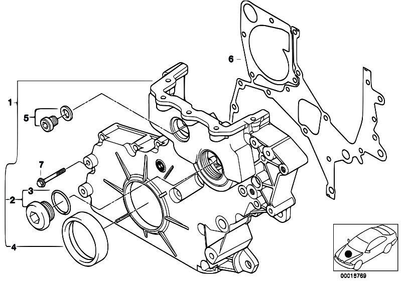 Original Parts for E53 X5 3.0d M57 SAV / Engine/ Lower