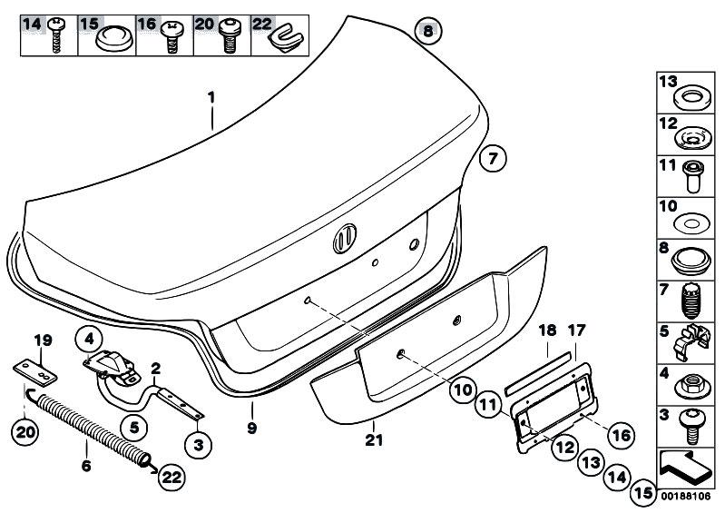 Original Parts for E60N 540i N62N Sedan / Bodywork/ Single