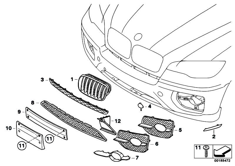 Original Parts for E71 X6 30dX M57N2 SAC / Vehicle Trim