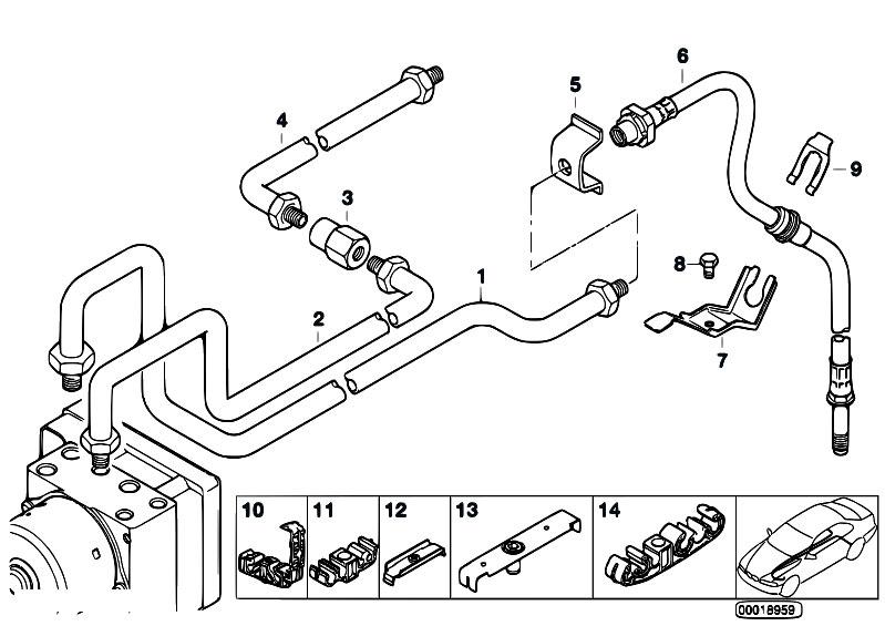 Original Parts for E46 316i 1.9 M43 Sedan / Brakes/ Brake