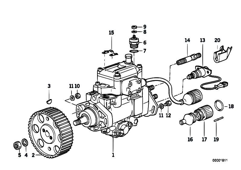Original Parts for E34 524td M21 Sedan / Fuel Preparation