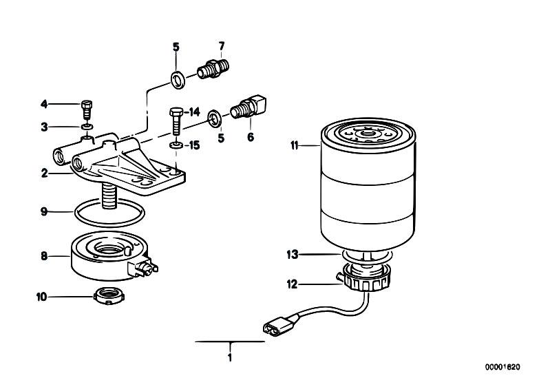 Original Parts for E30 324d M21 4 doors / Fuel Preparation