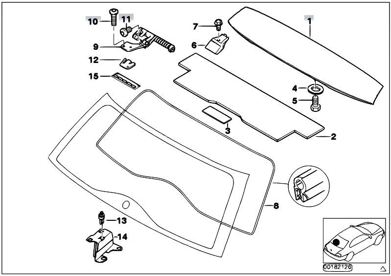 Original Parts for E46 320d M47N Touring / Bodywork/ Trunk