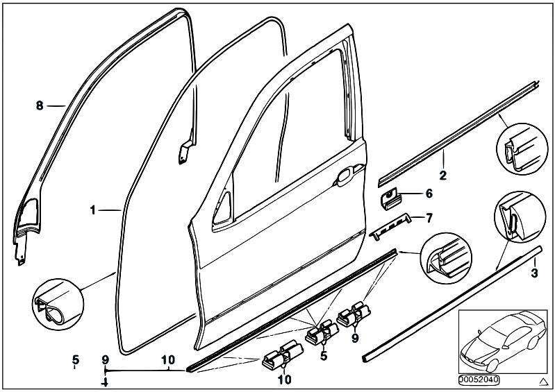 Original Parts for E53 X5 4.4i N62 SAV / Bodywork/ Door