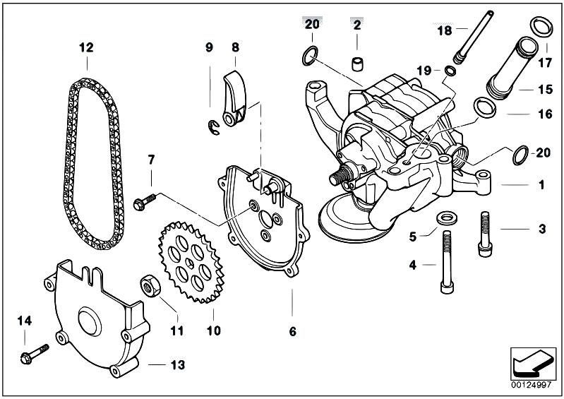 Original Parts for E39 M5 S62 Sedan / Engine/ Lubrication