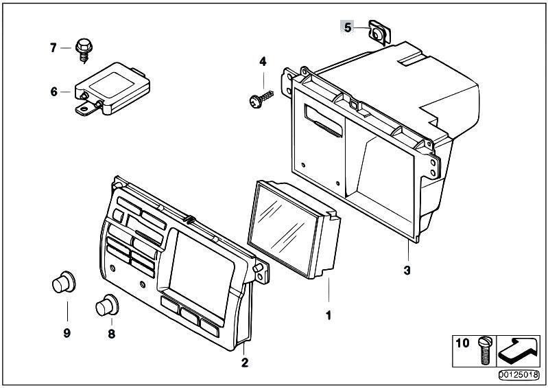 Original Parts for E46 320d M47N Sedan / Audio Navigation