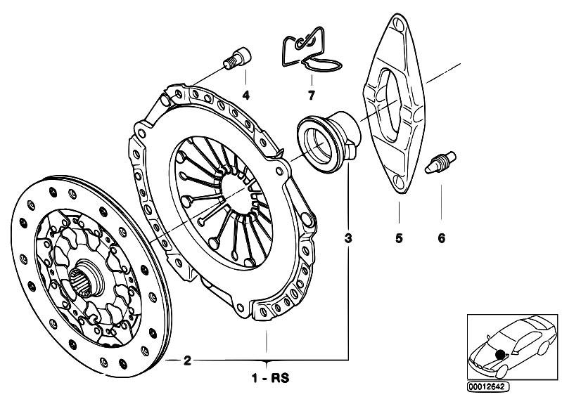Original Parts for E85 Z4 2.5i M54 Roadster / Clutch