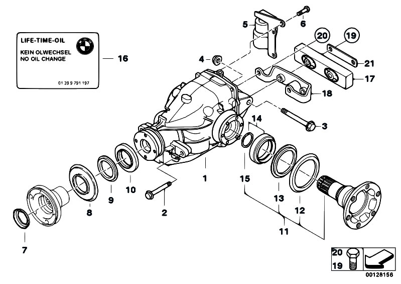 Original Parts for E46 320d M47 Touring / Rear Axle