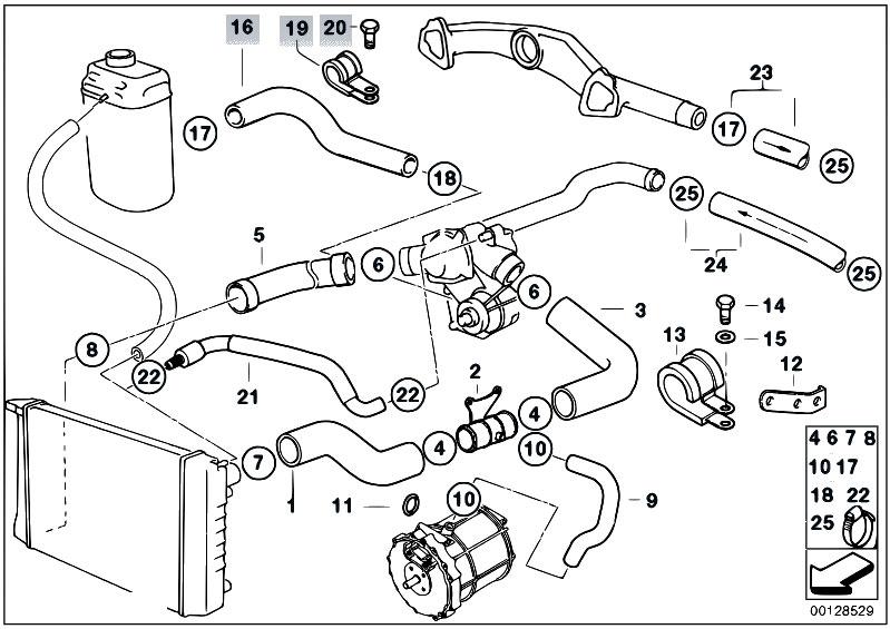 Original Parts for E38 750iLS M73 Sedan / Engine/ Cooling
